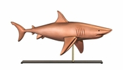 Good Directions-Shark Copper Table Top Sculpture-965PM