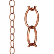 Good Directions - Small Single Link Pure Copper 8.5 ft. Rain Chain - 485P-8