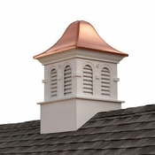 Good Directions - Smithsonian Rockville Vinyl Cupola with Copper Roof - BS26DW
