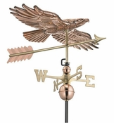 Good Directions - Soaring Hawk Weathervane - Polished Copper - 9699PA