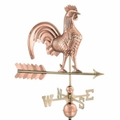 "Good Directions - Standard Weathervane - 25"" Rooster - Polished Copper - 501P"