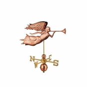 Good Directions - Standard Weathervane - Angel - Polished Copper - 630P