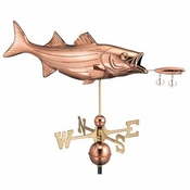 Good Directions - Standard Weathervane - Bass & Lure - Polished Copper - 9602P