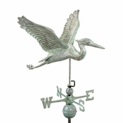 Good Directions - Standard Weathervane - Blue Heron - Blue Verde Copper - 9606V1