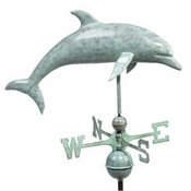 Good Directions - Standard Weathervane - Dolphin - Polished Copper - 9507V1