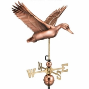 Good Directions - Standard Weathervane - Flying Duck - Polished Copper - 9613P