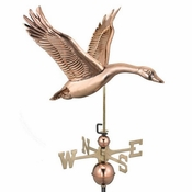 Good Directions - Standard Weathervane - Goose - Polished Copper - 9663P