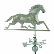 Good Directions - Standard Weathervane - Horse - Blue Verde Copper - 580V1