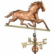 Good Directions - Standard Weathervane - Horse - Polished Copper - 580P