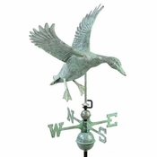 Good Directions - Standard Weathervane - Landing Duck - Blue Verde Copper - 9605V1