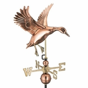 Good Directions - Standard Weathervane - Landing Duck - Polished Copper - 9605P