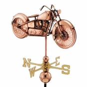 Good Directions - Standard Weathervane - Motorcycle - Polished Copper - 669P