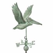 Good Directions - Standard Weathervane - Pelican - Blue Verde Copper - 9509V1