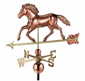 Good Directions - Standard Weathervane - Running Horse - Polished Copper - 952P