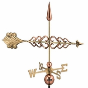 Good Directions - Standard Weathervane - Smithsonian Arrow - Polished Copper - 954P