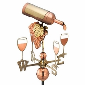 Good Directions - Standard Weathervane - Wine Bottle - Polished Copper - 917P