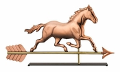 Good Directions-Trotting Horse Copper Table Top Sculpture-967PM