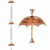 Good Directions - Umbrella Pure Copper 8.5 ft. Rain Chain - 486P-8