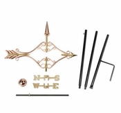 Good Directions - Victorian Arrow Garden Weathervane - Polished Copper w/Garden Pole - 8842PG