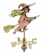 Good Directions - Witch Garden Weathervane - Polished Copper w/Roof Mount - 8849PR