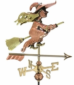 Good Directions - Witch with Arrow Cottage Weathervane - 8849PAR