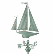 Good Directions - Yawl Weathervane - Blue Verde Copper - 9907SV1