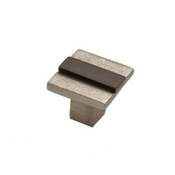 "Hardware International - Bronze Contemporary Banded Knob  - 1-1/2"" - 02-503-PE"