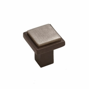 "Hardware International - Bronze Contemporary Square Flat Knob - 1-1/4"" - 02-602-EP"