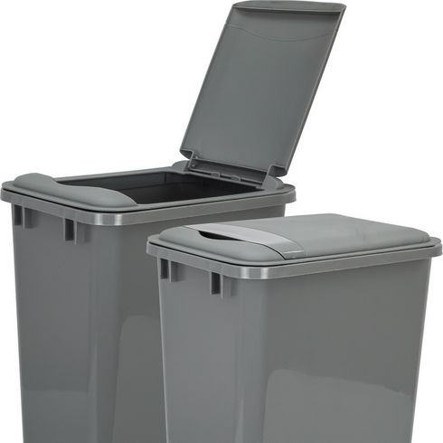 Hardware Resources - Lid for 50 Quart Plastic Waste Container, Gray. - CAN-50LIDGRY