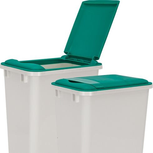 Hardware Resources - Lid for 50 Quart Plastic Waste Container, Green. - CAN-50LIDG