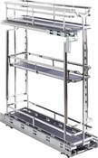 """Hardware Resources - STORAGE WITH STYLE (TM) 5"""" Wire Base Pullout Polished Chrome Finish - Polished Chrome - SWS-BPO5PC"""