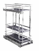 """Hardware Resources - STORAGE WITH STYLE (TM) 8"""" Wire Base Pullout Polished Chrome Finish - Polished Chrome - SWS-BPO8PC"""
