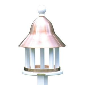 Lazy Hill Farm Bell Bird Feeder with Polished Copper Roof - 42513