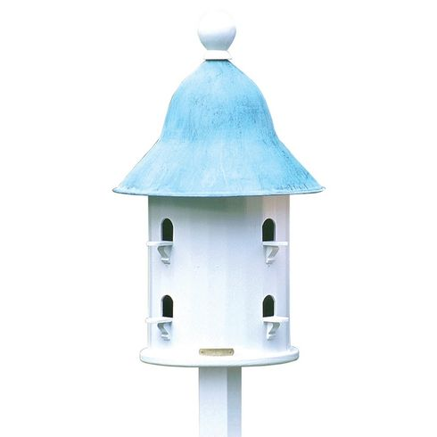 Lazy Hill Farm Bell Bird House with Blue Verde Copper Roof - 43413