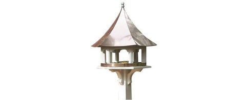 Lazy Hill Farm Carousel Bird Feeder with Polished Copper Roof - 42506