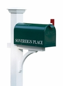 Lazy Hill Farm Cedar Mailbox Post Stained White - 999191