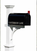 Lazy Hill Farm Cedar Mailbox Post Stained White - 999204