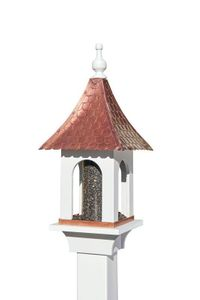 Lazy Hill Farm Large Seed Capacity Bird Feeder with Pure Copper Roof, Composite PVC Base  - 42301