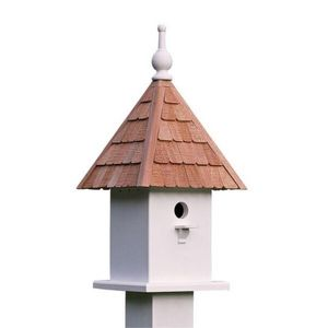 Lazy Hill Farm Loretta Bird House with Shingled Roof - 41450