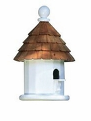 Lazy Hill Farm Small Shingled Bird House with Shingled Roof - 41429