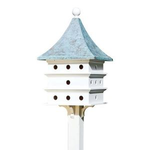 Lazy Hill Farm Ultimate Martin Bird House with Blue Verde Copper Roof - 43426