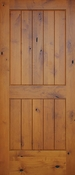Pacific Entries - Barn Series Door - Knotty Alder 2 Panel V-Groove - Pre-Finished - GA3242