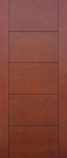 Pacific Entries - Barn Series Door - Mahogany Flush 5 Panel - Pre-Finished - FLM3255
