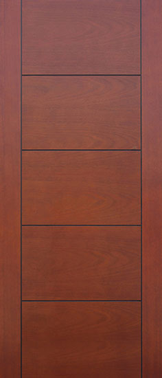 Pacific entries barn series door mahogany flush 5 - Prefinished mahogany interior doors ...