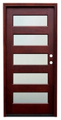 Pacific Entries  -  Contemporary Series Door  -  5 Lite Privacy Glass  - M55 5 Lite