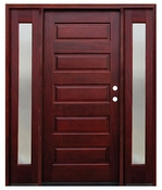 Pacific Entries  -  Contemporary Series Door  -  5 Panel - M55 - With Sidelites