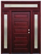 Pacific Entries  -  Contemporary Series Door  -  5 Panel - Transom