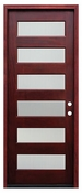 Pacific Entries  -  Contemporary Series Door  -  6 Lite Privacy Glass  - M55 6 Lite