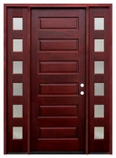 Pacific Entries  -  Contemporary Series Door  -  6 Panel - M55-8 - With Sidelites