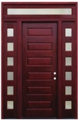 Pacific Entries  -  Contemporary Series Door  -  6 Panel - Transom